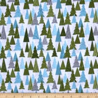 Lewis & Irene Hygge Christmas Christmas Trees Light Grey Green