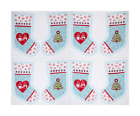"Lewis & Irene Hygge Christmas Stockings 18"" Panel Icy Blue"