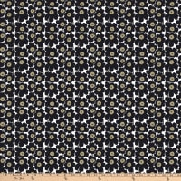 Marimekko Mini Unikko Cotton Broadcloth Black