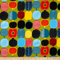 Marimekko Kompotti  Cotton Green-Multi