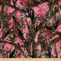 True Timber Camo Tricot Bonded Fleece - MC2 Pink