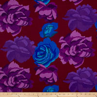 Kaffe Fassett Fall 2017 Rose Clouds Maroon