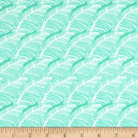 Tina Givens Piecemeal Leafy Path Aqua