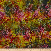 Andover A Splash of Color Batik Secret Garden Eggplant