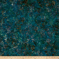 Andover A Splash of Color Batik Secret Garden Pacific Blue