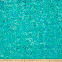 Andover A Splash of Color Batik Wreath Teal