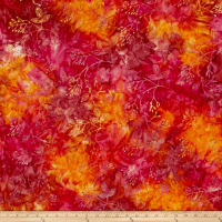 Andover A Splash of Color Batik Twig Orange
