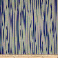 Alison Glass Diving Board Seagrass Cobalt on Tailored Cloth Linen