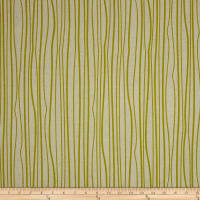 Alison Glass Diving Board Seagrass Chartreuse on Tailored Cloth Linen