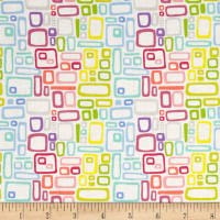 Uptown Rainbow Rectangles White
