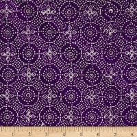 Java Garden Batiks Flower Burst Purple