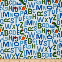 The Very Hungry Caterpillar - ABC's Alphabet Blue Green