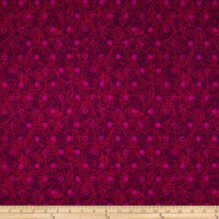 Alison Glass Sun Prints Link Raisin Red