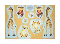"Susybee Buddies Cut-Out Toys 30""Panel Orange"