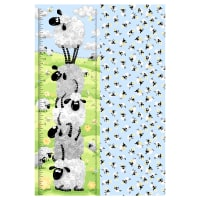"Susybee Lewe The Ewe Growth Chart 30"" Panel Blue"