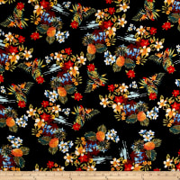 Telio Dali Rayon Poplin Tropical Black