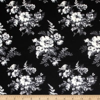 Laura Ashley The Gosford Park Botanical Forest Bloom Black
