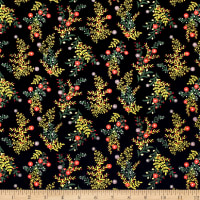 Laura Ashley The Gosford Park Wild Sprigs Black