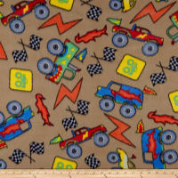 Polar Fleece Monster Trucks Tan