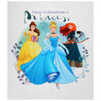 "Disney Princess Heart Strong Never Underestimate a Princess 36""Panel Multi"