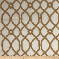 Fabricut Cranston Lattice Linen Blend Gold
