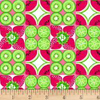 Tutti Fruitti Plisse Watermelon Check Red
