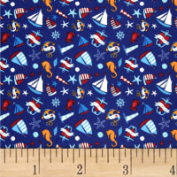 Ahoy Matey Sailboat Dark Blue