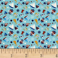 Ahoy Matey Sailboat Light Blue