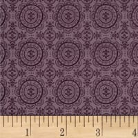 Mulberry Bloom Medallion Digital Purple