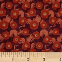 Mulberry Bloom Poppy Digital Red