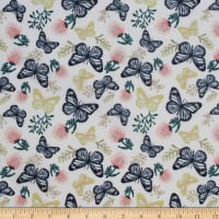 Up Up And Away Butterfly Metallic Palest Pink