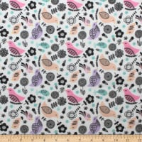 Nursery Program Flannel Birds Blush