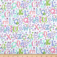 Printed Flannel Alphabet Purple