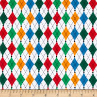 Printed Flannel Argyle Bright