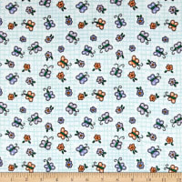 Flannel Butterfly Blue