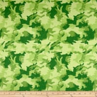Printed Flannel Urban Camoflage Green