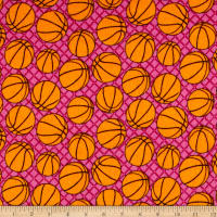 Flannel Basketballs Pink