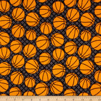 Flannel Basketballs Grey