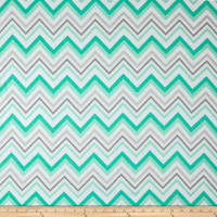Chevron & On Flannel Mint/White