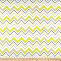 Flannel Chevron & On Yellow/White