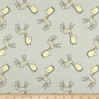 Flannel Tiny Giraffe Grey