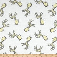 Flannel Tiny Giraffe White