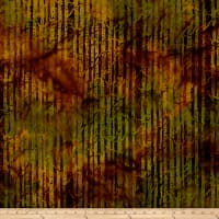 Island Batik Autumn's Grace Branches Burnished Copper