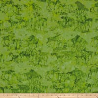 Island Batik Mountain's Majesty Critters Lime
