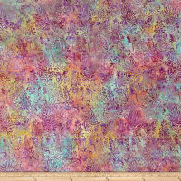 Island Batik Southern Blooms Blue Bonnet Cotton Candy