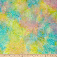 Island Batik Paisley Dot Cotton Candy