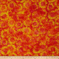 Island Batik Sunflower Seranade Sunflower Candy Corn