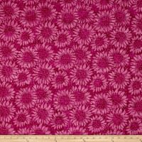 Island Batik Sunflower Seranade Sunflower Hot Pink