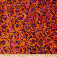 Island Batik Sunflower Seranade Sunflower Iris