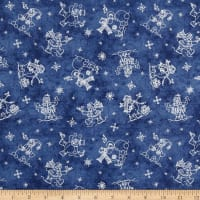 Roly-Poly Snowmen Snowmen Fun Navy Blue